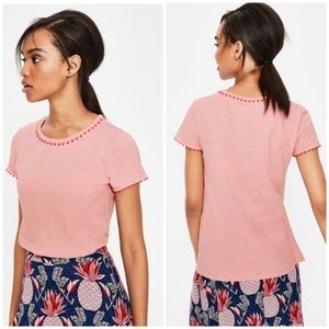 Boden Charlie Jersey T-Shirt Chalky Pink Small NWT